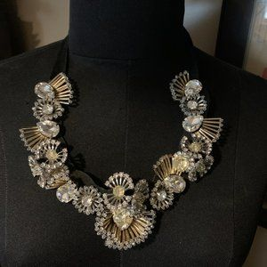 Banana Republic Bib rhinestone statement necklace